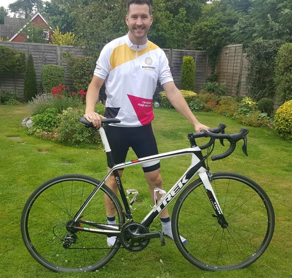 Friend takes on 100 mile cycle challenge to help scientists find a cure for brain tumours