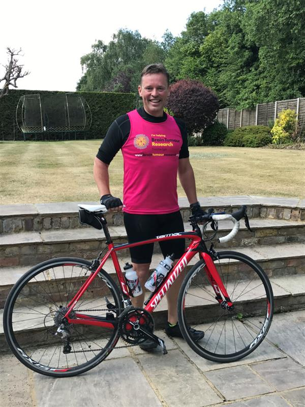 Businessman takes on 100 mile charity cycle challenge after friend's brain tumour diagnosis