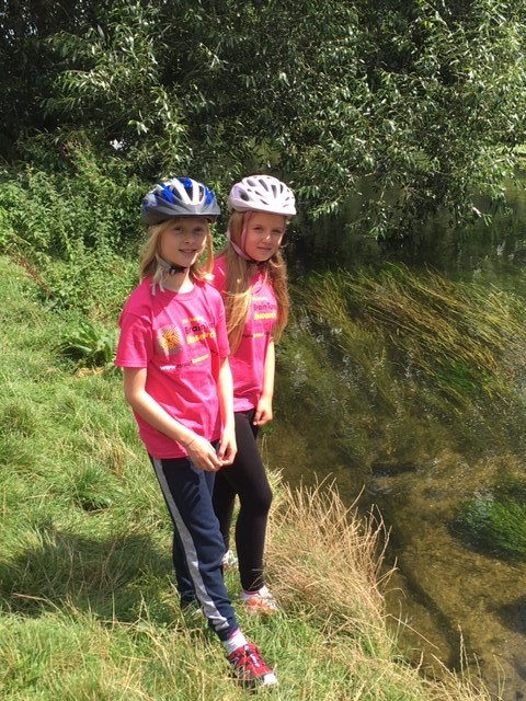 School girls take on 100-mile summer challenge  in support of Brain Tumour Research and MS Therapy Centre