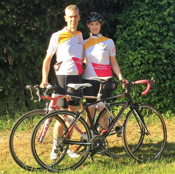 Toddler lost to brain tumour inspires couple's charity bike ride