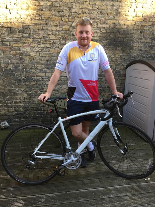 Brain tumour loss inspires charity cycle challenge