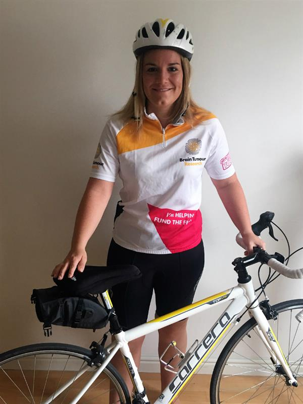 Brain tumour tragedies inspires charity cycle challenge