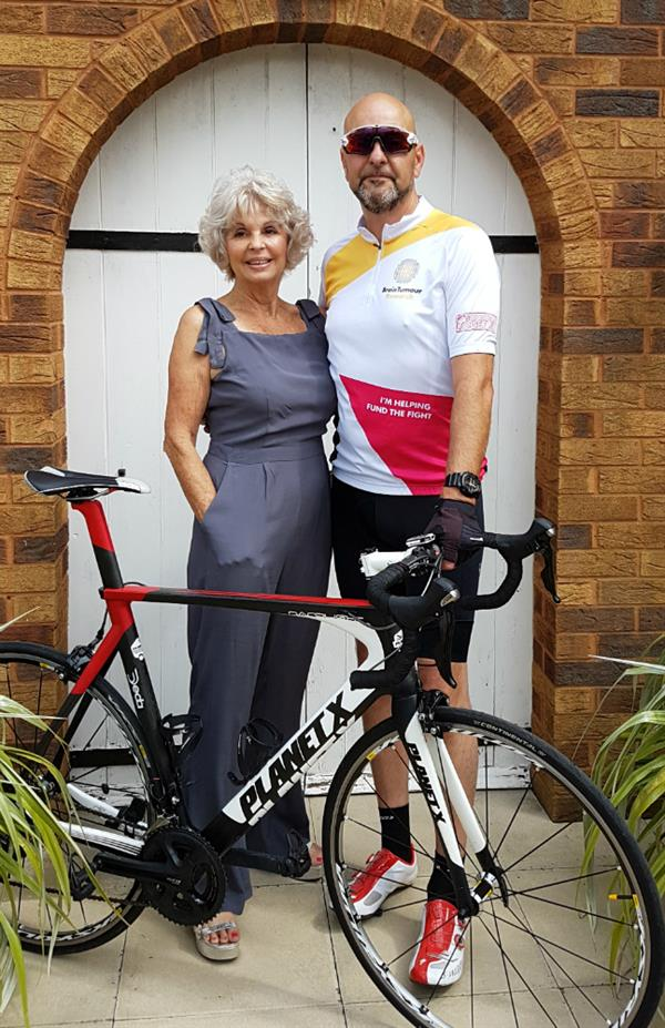 Mum's brain tumour inspires charity cycle challenge