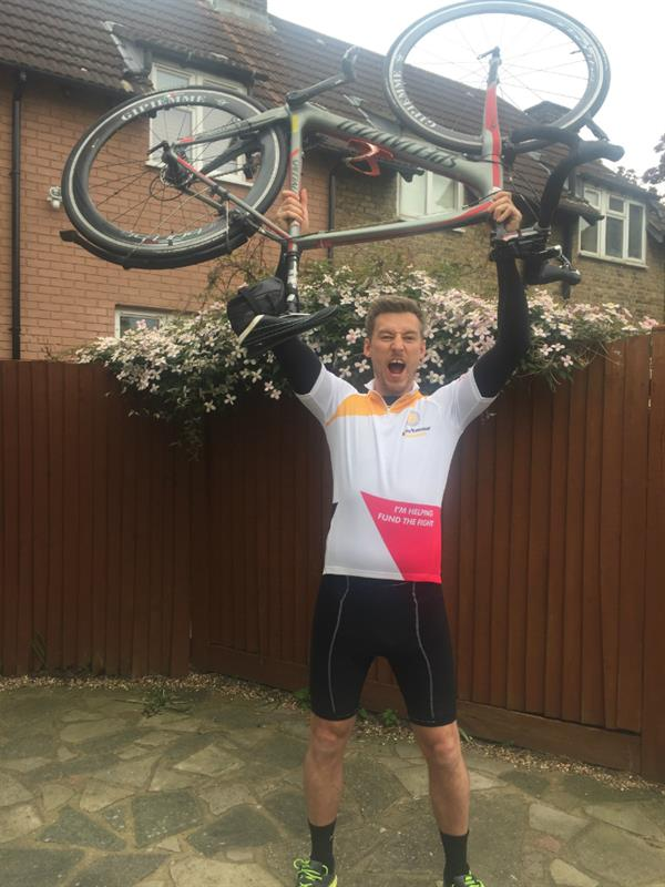Losing friend to brain tumour inspired accountant to take on charity cycle ride