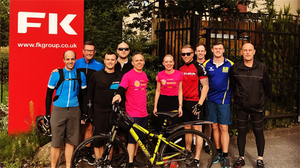 Employees to stage charity cycle event after colleague's wife diagnosed with brain tumour