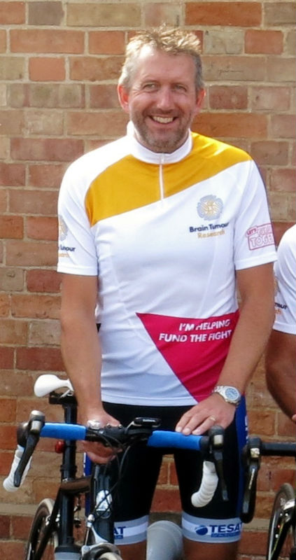 Cyclist takes on 100-mile cycle challenge to help scientists find a cure for brain tumours