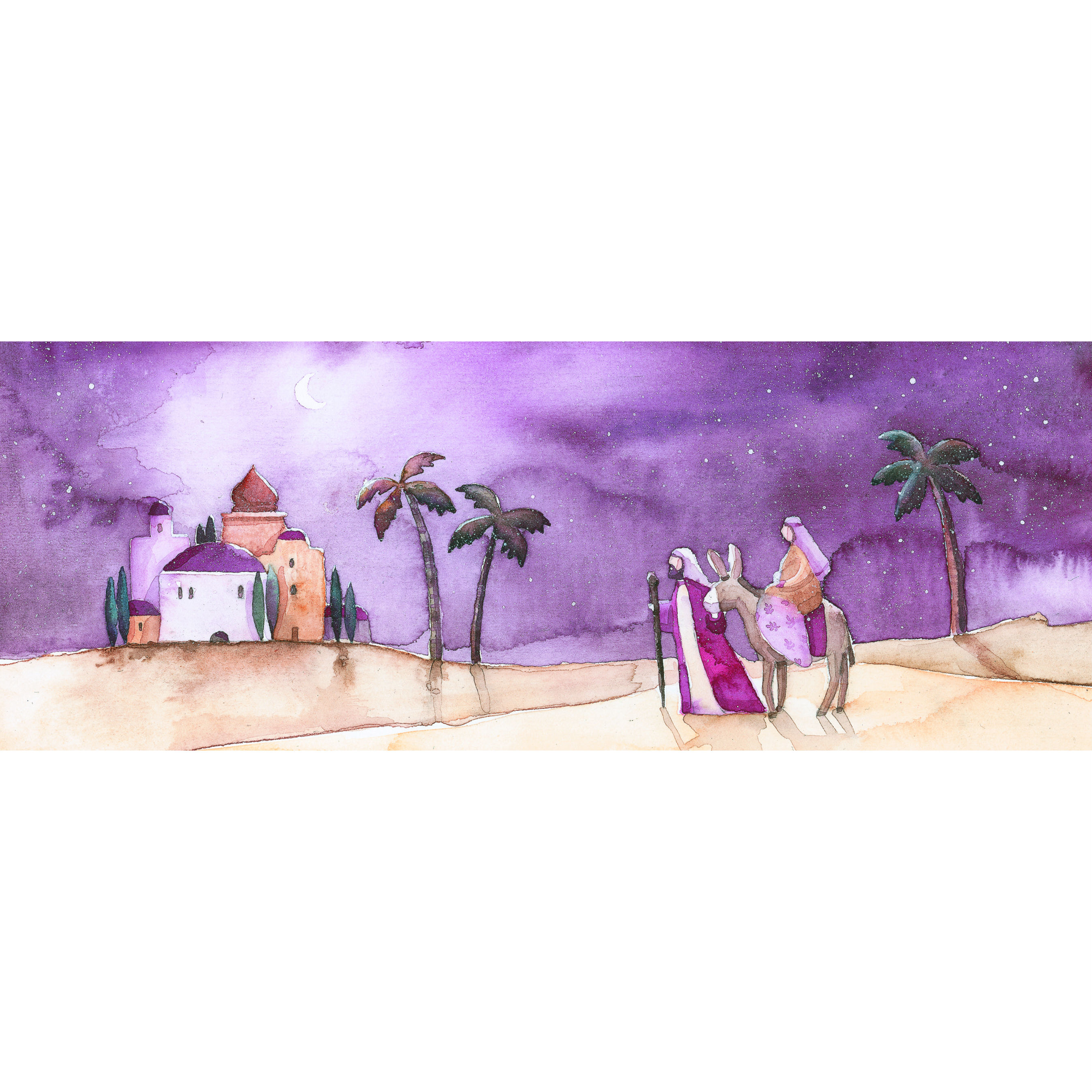 Arrival at Bethlehem Christmas Card