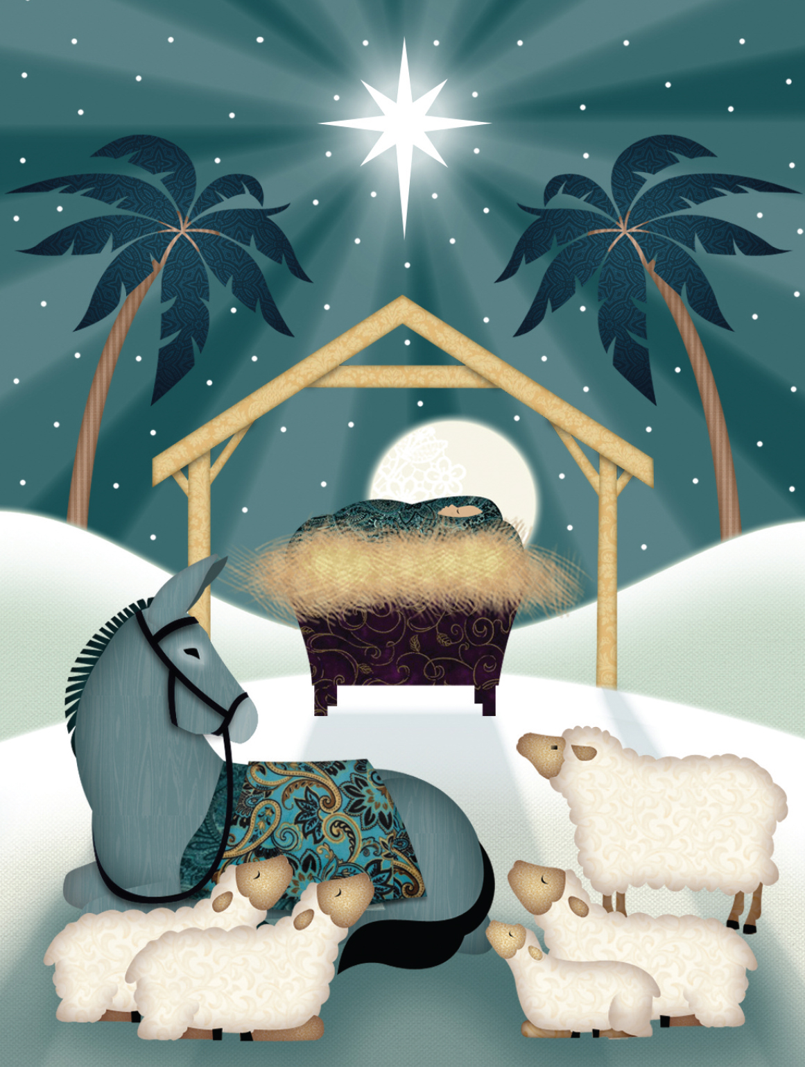 Animals at the Manger