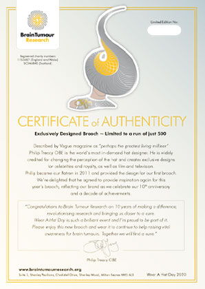 Philip Treacy Certificate of Authenticity 2020