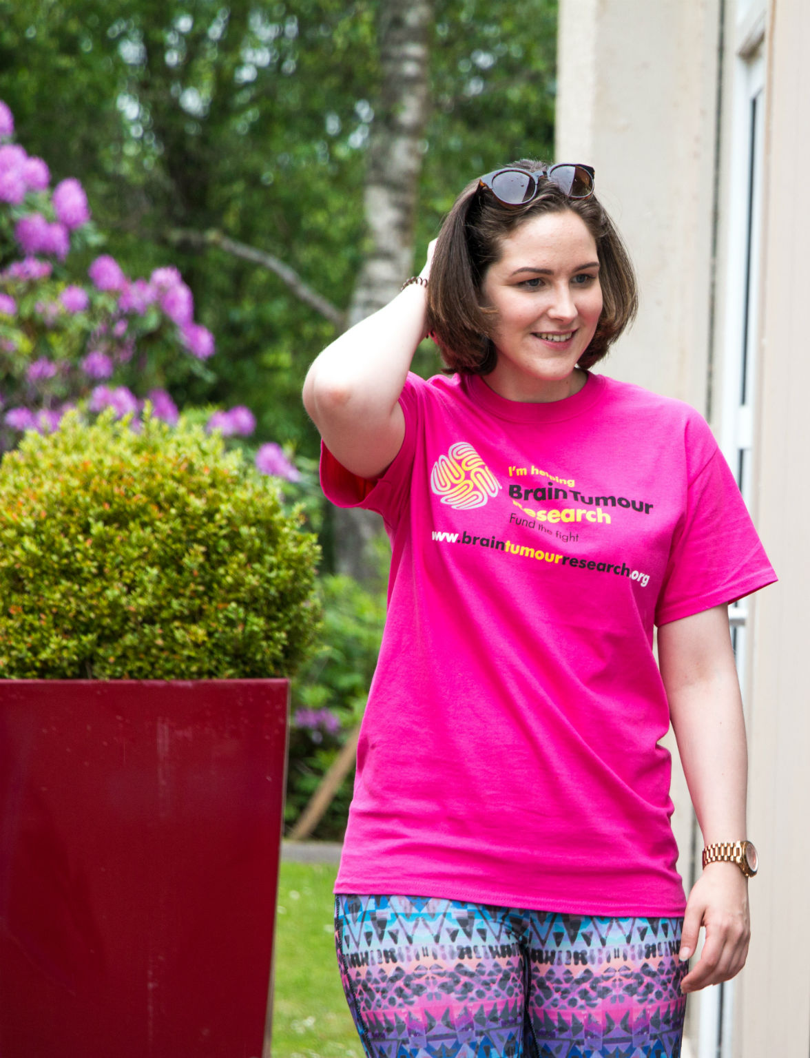 Woman in Brain Tumour Research t-shirt
