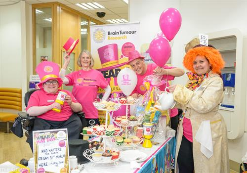 Rugby Coventry Building Society support Wear A Hat Day