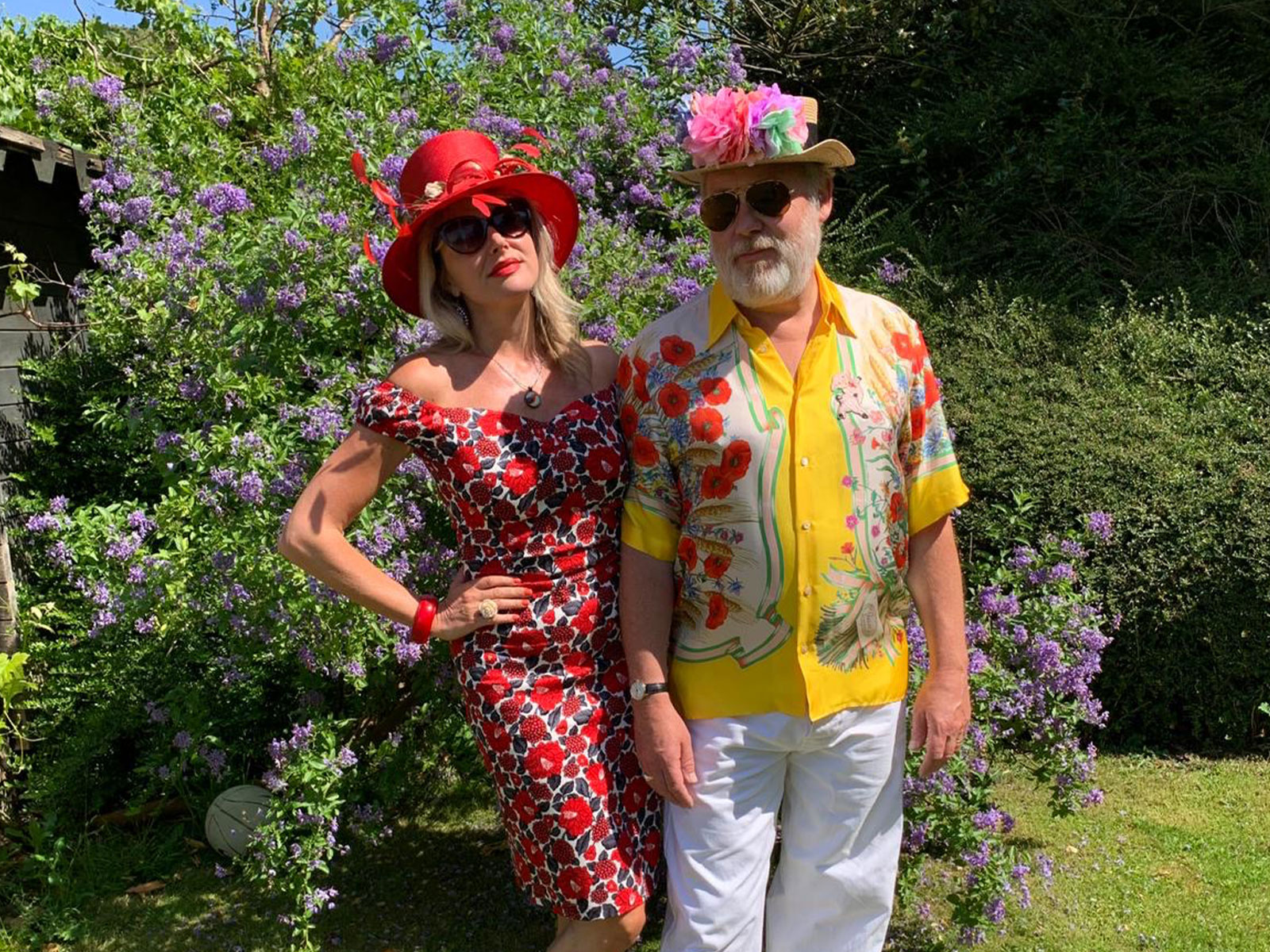 James Moir  Nancy Sorrell supporting #WearAHatDayWithFlowers