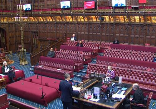 Reflecting on debate in House of Lords