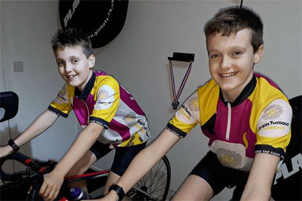 Young brothers hit new heights with virtual Everest challenge