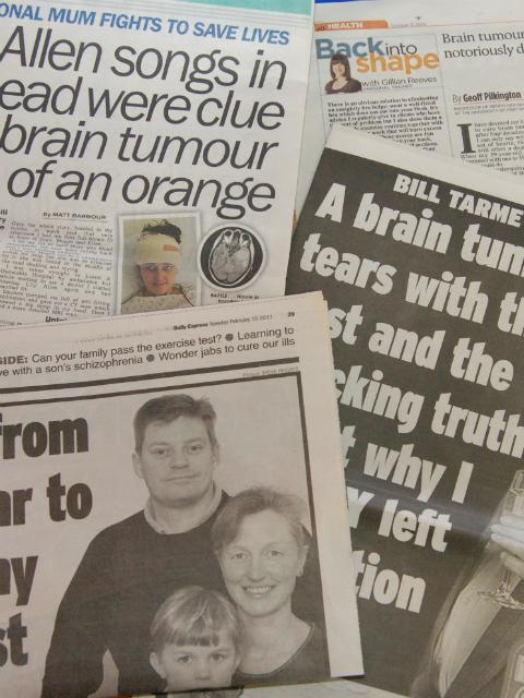 Brain tumour headlines