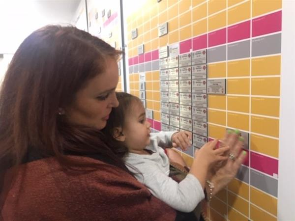 Mum places tiles on Wall of Hope as Charlie's memory Charges On