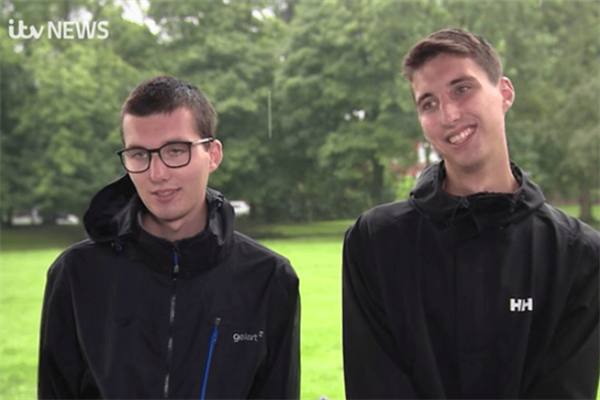 Twin brothers' fundraising reaches £11,000 after appearance on ITV