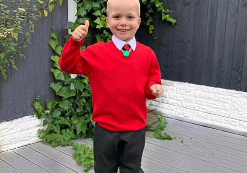 Bobby makes the news as he goes back to school after brain tumour treatment