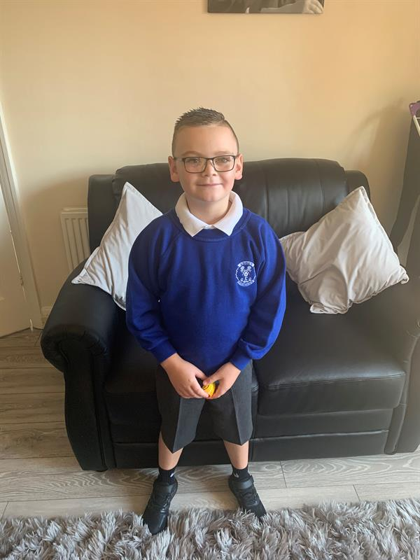 Brave Charlie back at school after brain tumour returns for third time