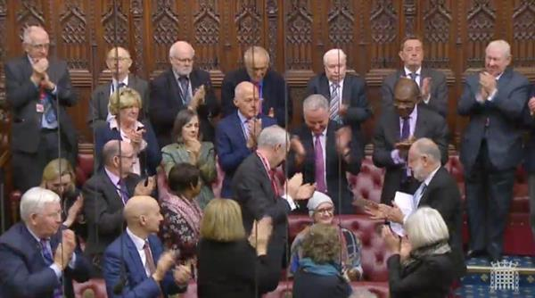 Baroness Jowell given standing ovation for brain tumour speech in House of Lords