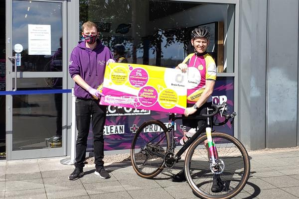 Brain tumour survivor cycling 500 miles for research