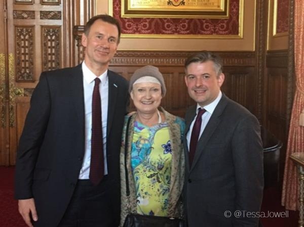 Baroness Tessa Jowell inspiration for cancer debate in Parliament