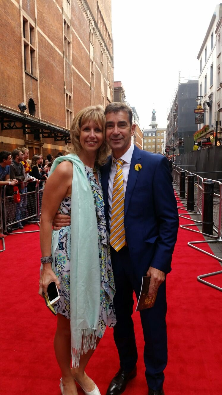 Angela and Mark George on the red carpet