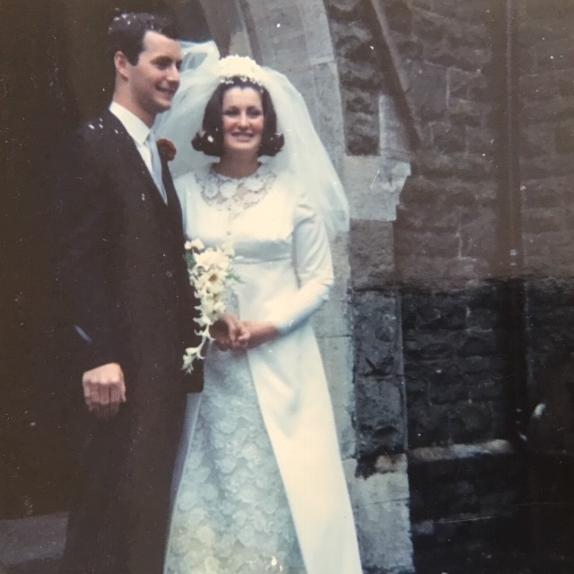 Beatrice and Huw Williams on their wedding day in 1969