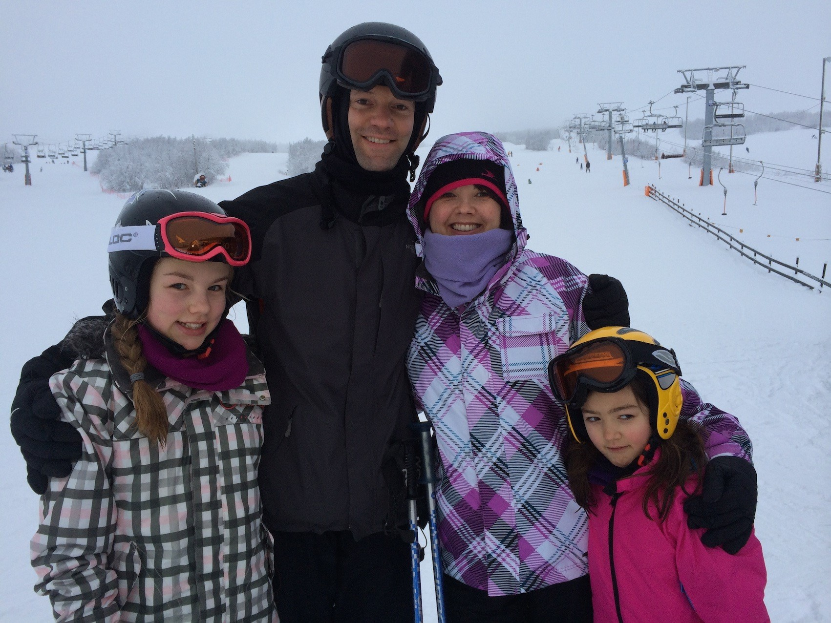 Brooks family skiing holiday