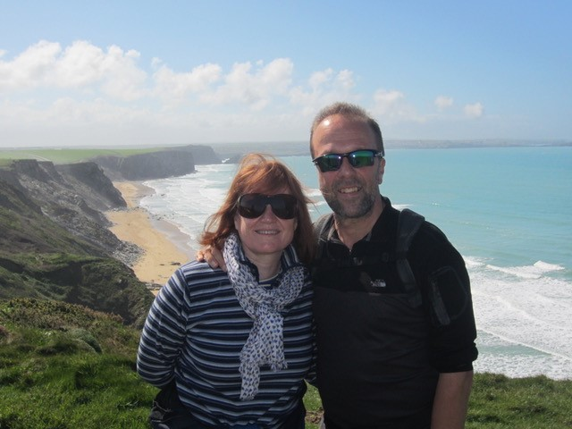 Carol and Richard in Cornwall