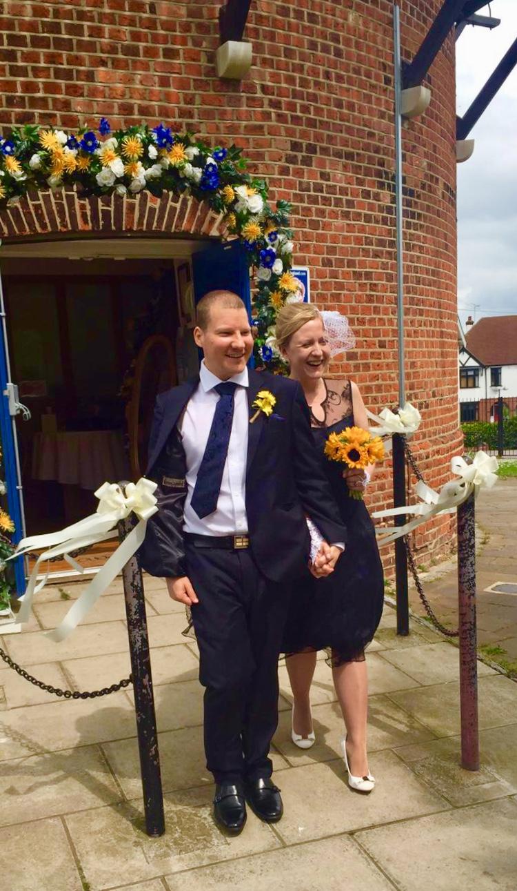 Daryl and Jude's wedding day