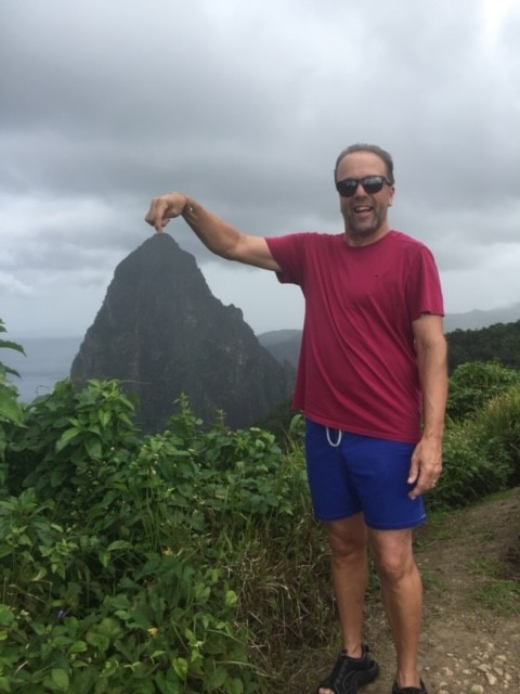 Richard Wheatley in St Lucia