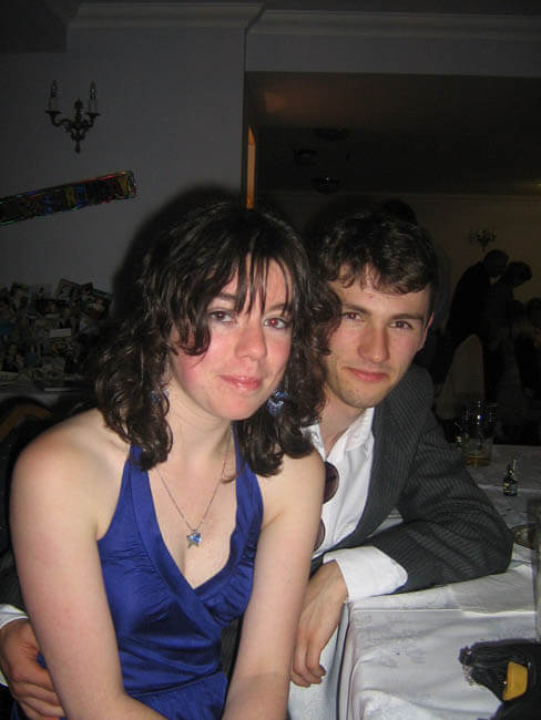 Rob and Sarah at his 21st birthday
