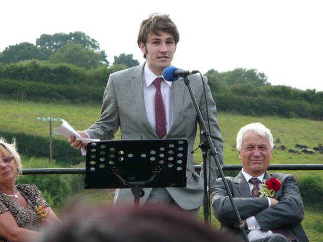 Rob at his Leavers Speech