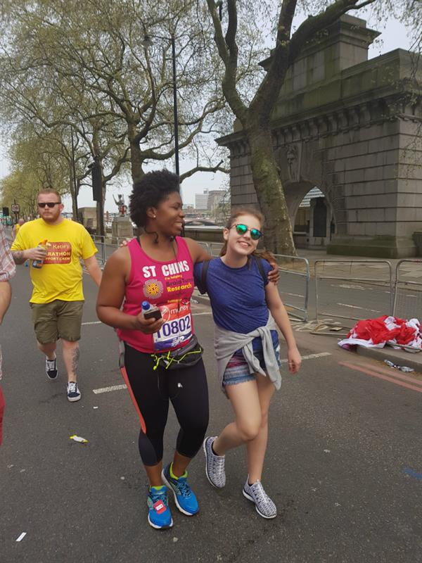 Rochester mum completes the London Marathon in honour of young brain tumour survivor