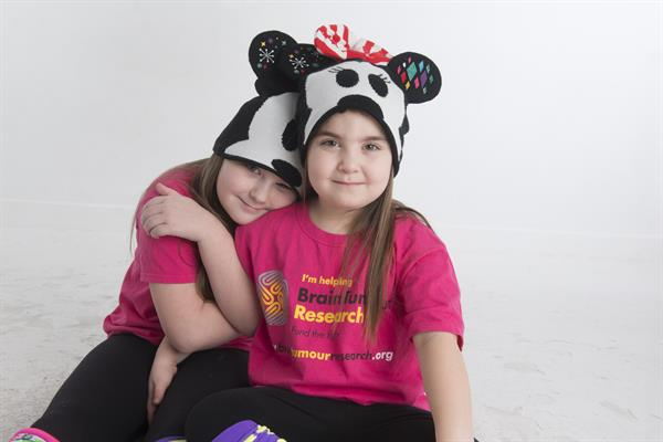 Sisters get hatty for starring role in Brain Tumour Research campaign