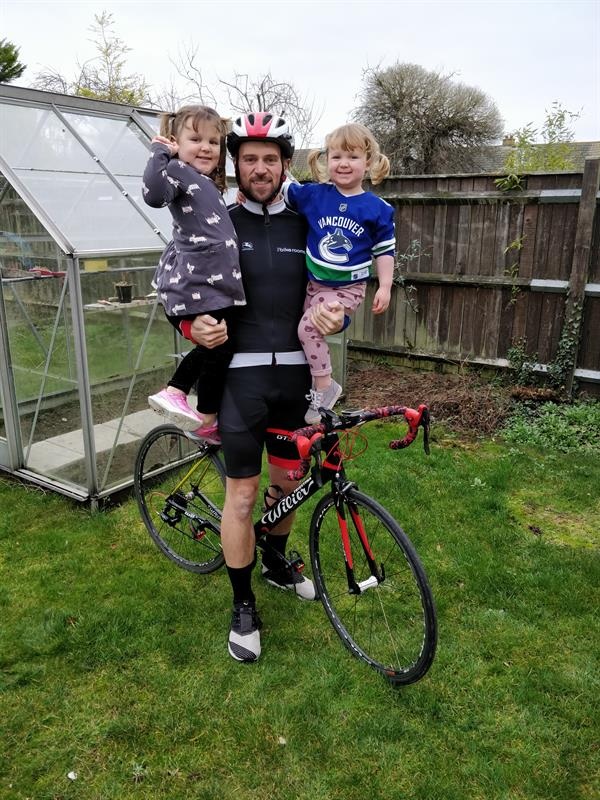 Young brain tumour patient inspires 300km charity cycle
